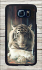 WHITE TIGER NAP CASE COVER FOR SAMSUNG GALAXY S6 -fwt4Z
