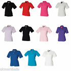 HENBURY LADIES CLASSIC 100% COTTON PIQUE POLO SHIRT S-XXL H121
