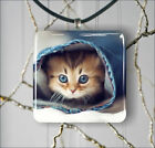CAT KITTEN IN A PANT PENDANT NECKLACE 3 SIZES CHOICE -sfr4Z