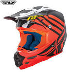 Fly Racing F2 Carbon Zoom MX Helmet Matte Orange with MIPS