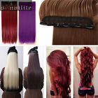 120-200g 1 Piece Full Head Clip in Thick Remy Hair Extensions Wavy Straight hg60