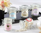 60 PERSONALIZED Baby Theme Jars w/ Swing Top Lid Baby Shower Favors