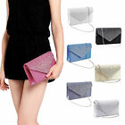 Ladies Evening Clutch Bag Woman Girls Wedding Prom Party Diamante Handbag UK