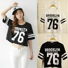 Women Casual Loose T-shirt Summer Short Sleeve Letter Print Blouse Tee Tops New
