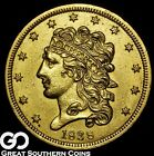 1838 Half Eagle, $5 Gold Classic Head, Super Sharp BU++ Better Date Early Piece!
