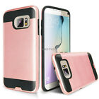 For Samsung Galaxy S7 / S7 Edge Shockproof Brushed Armor Rubber Slim Hard Case
