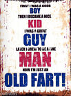 FIRST I WAS A GOOD BOY METAL SIGN  RETRO VINTAGE STYLE, funny, man cave, garage