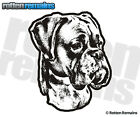 Boxer Dog Decal Pet Kennel Dogs Adopt Rescue Car Gloss Vinyl Sticker (RH) H1G