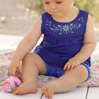 Toddler Baby Girls Infants Blue Shirts + Floral Pants + Headband Outfit 3x/Set