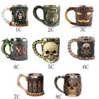 Home Double Wall Stainless Steel 3D Skull Coffee Cup Skull Prank Water Mug Gifts