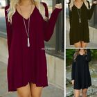 Stylish Women Casual Summer Long Sleeve Evening Party Cocktail Short Mini Dress
