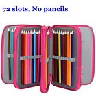 5 Colors 72 Slots Pencil Case Holder Large Capacity Storage Multi-layer Bags