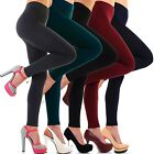 Damen Thermo Leggings Warm Weich Blickdicht Winter Leggins Innenfleece Farben