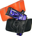 CEBECI LEATHER QUICK DRAW OPEN TOP BELT SLIDE HOLSTER... Choose Gun and Color!