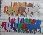4 Glittered Large Carousel Horse Chipboard Die Cuts [12 colors to choose from]