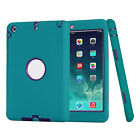 SHOCKPROOF HEAVY DUTY RUBBER HARD CASE COVER LOT FOR APPLE IPAD 2/3/4 MINI AIR
