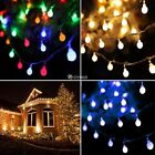 3M 30LED 3A Battery Operated Timer String Lights Silver Wire Xmas Party Decor DZ