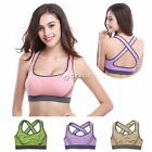 Womens Padded Bra Tops Athletic Vest Gym Fitness Sports Yoga Dance