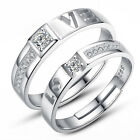 1 Piece Men or Women 925 Sterling Silver Wedding Love Couple Ring Jewelry A1215