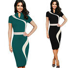 Women Casual Short Sleeve Evening Party Bodycon Wear to Work office Pencil Dress