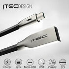 MICRO USB 2.0 ITEC 3D ALLOY DATA SYNC CHARGER CHARGING CABLE LEAD FOR SONY BLACK
