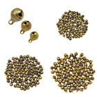 100 Pcs Bronze Brass Bells Pendant Beads for DIY Necklace Jewellery Bracelet