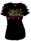 Bling Bling Real Moms of Basketball RHINESTONE T-SHIRT,RIPPED CUT OUT SML1X2X3XL