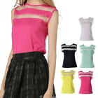 Summer Women's Loose Casual Chiffon Sleeveless Vest Shirt Tops Stitching Blouse