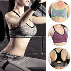 Women Sports Bra Running Gym Yoga Padded Fitness Tops Tank Workout Stretch Tops