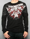 NEW AFFLICTION MENS THROWDOWN PREMIUM RED & BLACK THERMAL SHIRT