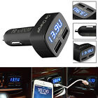 4 In 1 Dual USB Car Charger Adapter With Voltage DC 5V Tester for iPhone Pretty