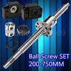 SFU1605 Antibacklash Ball Screw L250mm-750mm & BK12 BF12 + 6.35x10mm Coupler Set