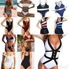 Fashion Womens One piece Padded Swimsuit Monokini Swimwear Push Up Bikini Sets
