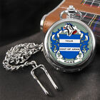 Coat of Arms Family Crest Surname Pocket Watch
