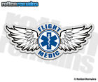Flight Medic Decal Star of Life Paramedic EMS Helicopter Gloss Vinyl Sticker H1G