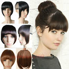 Short Clip in Bangs Fringe Hair Extensions Front Neat bang Straight 1Piece hg29