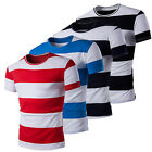 Fashion Men's Casual Short Sleeve Crew Neck Summer Slim Fit T Shirt Striped Tops