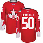 Mens Crawford Canada Hockey adidas Red 2016 World Cup of Hockey Player Jersey