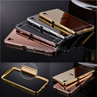 Metal Aluminum Frame Bumper Mirror Back Case Cover For Sony Xperia XA XP Z3/5