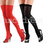 Over the Knee Hold Ups Womens Opaque Stockings Fancy Dress Thigh Highs Hosiery