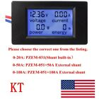 DC 65 100V 20 50 100A LCD Digital Combo Panel Display Volt Amp Power Watt Meter