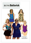 Butterick sewing pattern 5795 Women Plus Swimsuit bathing suit Cover shorts