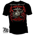 Erazor Bits Mens Graphic Apparel T-Shirt ELITE BREED USMC RD BLADES SIL/BK