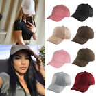 Hot Unisex Women Faux Suede Baseball Cap Snapback Visor Sport Sun Hat 8 colors