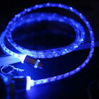 1M Micro USB Sync Cable LED Light Charger Data Wire for iPhone 5 6s Plus Android