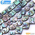 """Natural Assorted Shapes Abalone Shell Flatback Beads15""""Jewelry Making Wholesale"""