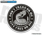 Don't Tread on Me Live Free or Die Decal Tattered Snake Gloss Vinyl Sticker HGV