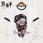 Anime Black Butler Under Taker Cosplay Casual T-Shirt Tops Unisex Sport  #5