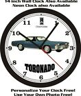 1971 OLDSMOBILE TORONADO WALL CLOCK-FREE USA SHIP