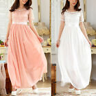 JK2 Bead Lace Splice Chiffon Evening Party Wedding Maxi Dress formal Women Gown